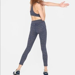 Outdoor voices blue 3/4 tech sweat crop legging